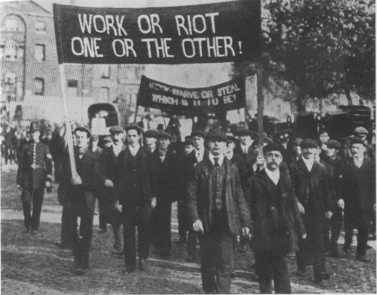 Work or riot, one or the other!